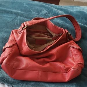 Red leather purse/bag